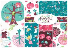 WINTER 2014! NEW from Camelot Fabrics!! Fairyville by Heather Rosas. To see more from this collection, visit our website: http://camelotfabrics.com/fairyville.html