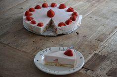 Aardbeien kwarktaart - Uit de pan van San