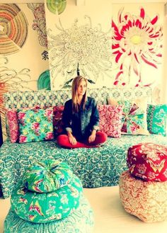 Amy Butler's new Decorator fabric. Pretty!
