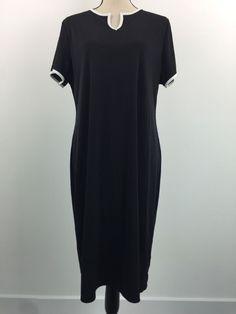 Meg Allen Women's Black V Neck Dress Size XL | eBay