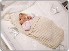 Конверт для новорожденного спицами » Женский Мир