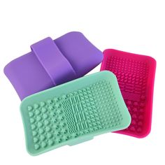 1pc Silicone Makeup Brush Cleansing Palette Nail Brush Cleaner Cleaning Mat Washing Scrubber Pad Cosmetic Make Up Cleaner Tool