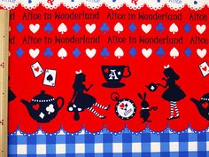 Lecien Japanese Fabric / Alice in Wonderland by pikobeagle2000