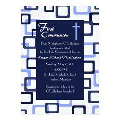First Communion Invitation - Boy