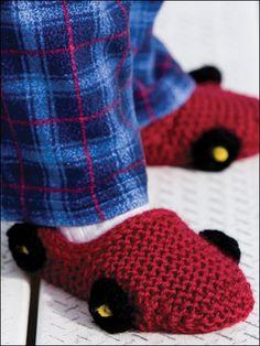 Car Slipper Knitting Pattern
