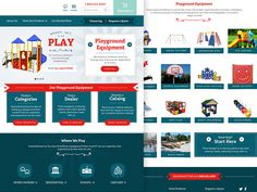 Playground Equipment Landing Page by Janna Hagan