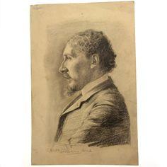 Hermann Struck - Profile Portrait, Pencil on Paper 1904 : Lot 45 Israel, Auction, Pencil, Profile, Portrait, Paper, Art, User Profile, Men Portrait