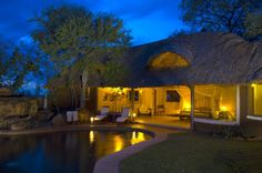 African thatched house.