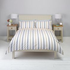 Buy John Lewis New England Striped Bedding Online at johnlewis.com Striped Bedding, Beds Online, John Lewis, New England, Comforters, House Ideas, Blanket, Bedroom, Stuff To Buy