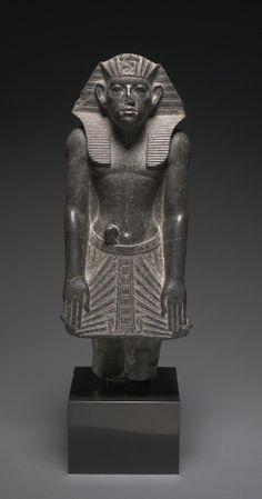 Statue of Amenemhat III Standing in a Devotional Attitude | Middle Kingdom | The Met