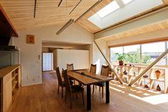 森建築設計 リフォーム、リノベーション『大きな船底天井のある家』  http://www.kenchikukenken.co.jp/works/1256519040/136/