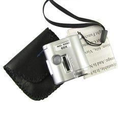 Amazon.com : AmaranTeen - 60X Mini Microscope Magnifier Loupe Currency Detector : Garden & Outdoor Walk Through Metal Detector, Underwater Metal Detector, Waterproof Metal Detector, Security Screen, Types Of Metal, Airports, Mini, Distance, Stationary