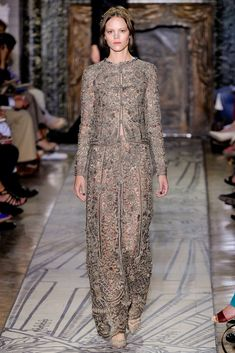 Valentino Fall 2011 Couture Fashion Show - Freja Beha Erichsen