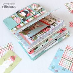 Cream Blossom Traveler's Notebook featuring the Oh What Fun Simple Set by design team member Emma Toon