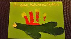 Weihnachtskarte Adventskranz