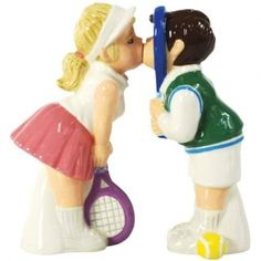 Westland Giftware Mwah Magnetic Tennis Couple Salt and Pepper Shaker Set, Westland Giftware Mwah, Magnetic Tennis Couple Salt and Pepper Shaker Set, These cute shakers have a magnetic insert to keep them together. Salt And Pepper Shrimp, Salt And Pepper Hair, Wedding Cake Toppers, Wedding Cakes, Tennis Crafts, Salt And Pepper Restaurant, Westland Giftware, Sports Wedding, Tennis Party