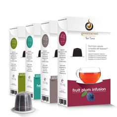 Nero Gourmesso Tea Bundle with 50-200 Nespresso Compatible TEA Capsules (200 tea capsules), Black