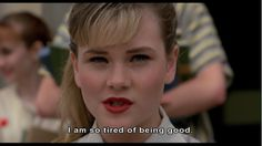 """Allison Vernon-Williams as Amy Locane in """"Cry-Baby"""" (""""Beksa"""", by John Waters Cry Baby Movie, Cry Baby 1990, Tv Show Quotes, Film Quotes, Johnny Depp, Cry Baby Quotes, Amy Locane, Image Film, John Waters"""