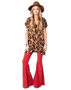 Show Me Your Mumu Carter Tunic in Leopard Knitten