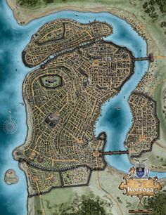 Shevaros was once one of the three Regional Capitals of the Xanadar Empire. It is now a major point of trade and remains a free and independent city! Fantasy City Map, Fantasy World Map, Fantasy Castle, Fantasy Places, Medieval Fantasy, City Layout, Map Layout, Plan Ville, Dark Fantasy