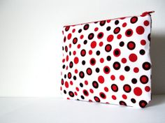 Red Polka Dot PouchCosmetic pouchCosmetic by SzidoniaCollection, $13.99
