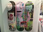 """Jean Michel Basquiat Skateboard Triptych """"In Italian"""" Set of 3 Decks Limited Art - """"In, BASQUIAT, DECKS, Italian, Jean, Limited, Michel, Skateboard, triptych"""