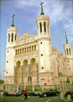 Lyon, the basilica of Notre-Dame de Fourvière
