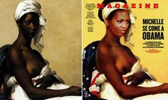Topless Michelle Obama as a Slave from Fuera De Serie