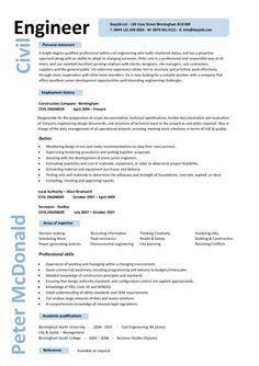 Civil Engineering Resume Templates Free Examples Of Resume Template  Httpwww.resumecareerfree .