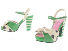 Lola Ramona: angie P shoes Pink And Green, Me Too Shoes, Heaven, Wedding Inspiration, Wedges, My Style, Heels, How To Wear, Stuff To Buy