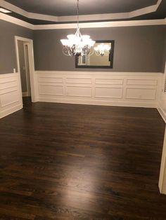 Dark walnut wood floors kitchens 67 ideas for 2019 Dark Walnut Floors, Walnut Hardwood Flooring, Diy Wood Floors, Painted Wood Floors, Refinishing Hardwood Floors, Diy Flooring, Dark Wood, Dark Hardwood, Colors