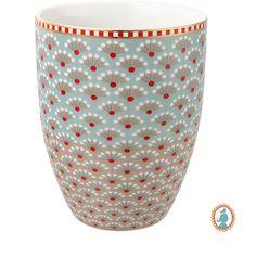 PiP Studio - 'Bloomingtales' Collection - Milk Mug, Blue/Khaki