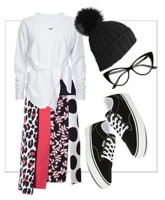 look no. 1 by tanya-dayal on Polyvore featuring polyvore fashion style MSGM Vans Black clothing