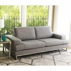 Vera Fabric Sleeper Sofa With Storage Ivory Furniture
