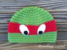 Ninja Turtle Hat {FREE PATTERN} for Alex!