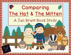 Comparing The Hat and The Mitten: A Jan Brett Book Study- This pack was created to accompany the books The Hat and The Mitten, both by Jan Brett. It would be a great addition to a Jan Brett author study. All the activities are designed to help students re Teaching Activities, Winter Activities, Teaching Reading, Classroom Activities, Classroom Ideas, Teaching Ideas, Reading Skills, Educational Activities, Guided Reading