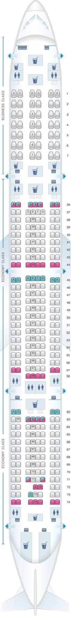 Seat Map Tap Portugal Airbus A330 Tap Portugal