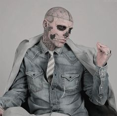 Rick Genest *-* too awesome