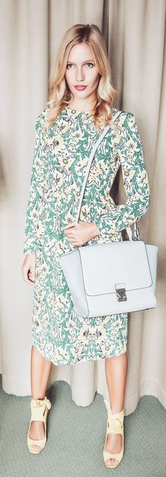 Leaf Print  Maxi Dress Rocker Chic, Leaf Prints, Fashion Forward, Street Style, Style Inspiration, Colour, Boho, Stylish, Create