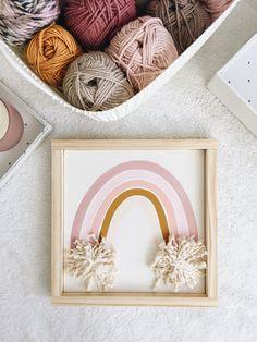 38 New Ideas For Bedroom Girls Rainbow Wall Art Woodland Nursery Decor, Boho Nursery, Nursery Wall Art, Girl Nursery, Rainbow Nursery Decor, Rainbow Wall, Rainbow Room, Rainbow Colors, Boho Wall Hanging