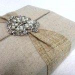 Great creation: Handmade hemp wedding invitation in box form!