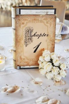 The first chapter of your lives together is about to begin. Why not reflect it on your wedding table numbers? #tablenumbers