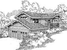 Unique Garage Apartment, 051G-0008 100+ plans for small homes  =< 800 sqft