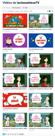 Voici des vidéos réalisées par le blogueur Gaël du site «laclassebleue.fr» en français pour illustrer de manière originale vos leçons. Ces vidéos peuvent servir soit en pha…