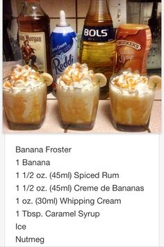 Banana Foster Mmmm... This will be my dessert thanks Chris love ya❤️  # tipsy Bartender