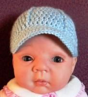 Free crochet baby baseball cap pattern