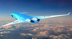 Dutch airline KLM and Delft University of Technology have released concept designs for an aircraft with a blended wing body, which could transport passengers non stop from Europe to Australia. New Aircraft, Aircraft Engine, Aircraft Photos, Blended Wing Body, Australia Flights, Flying Vehicles, Colani, Airplane Design, Experimental Aircraft