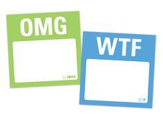 Knock Knock OMG/WTF Mini Sticky Notes #knockknockstuff
