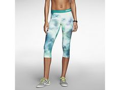 Nike Pro Core Fitted Splatter capri-broek voor dames