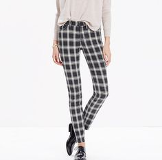 With a fabulous fit, these plaid  High Riser Skinny Skinny Jeans will complement just about any solid top you have.